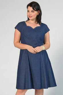 """Платье """"СКС"""" 2910 (Темно-синий, белый горох)"""