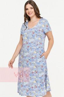 Платье женское 181-3433 Фемина (Энотера голубой)